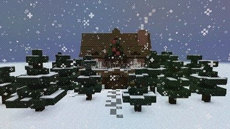 christmas adventure inspired villa для minecraft
