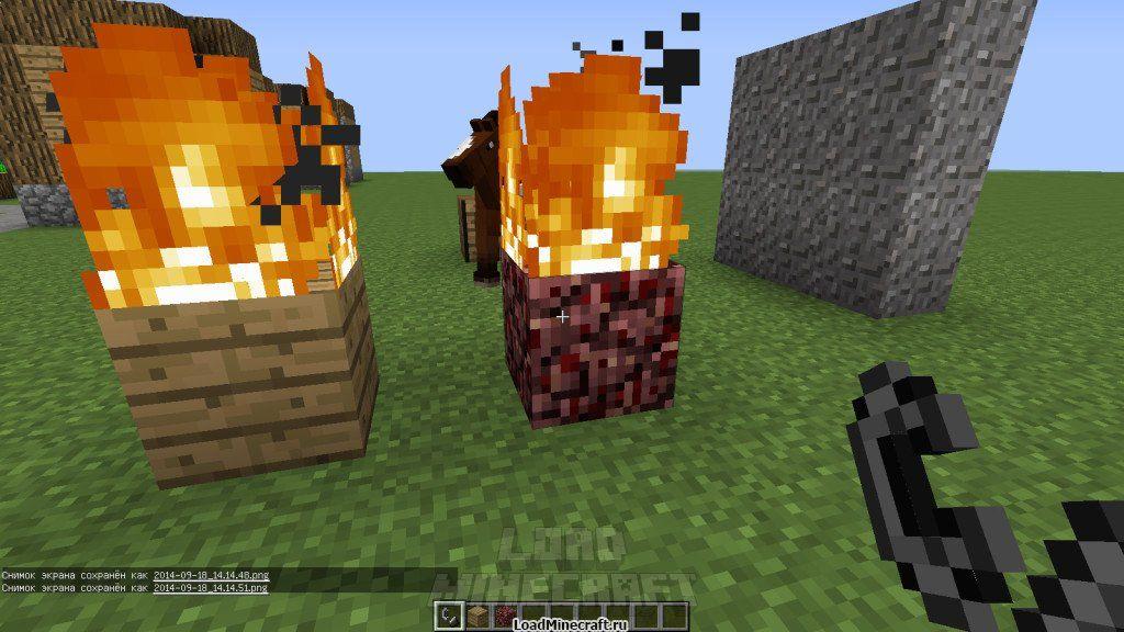 Как сделать зажигалку в minecraft