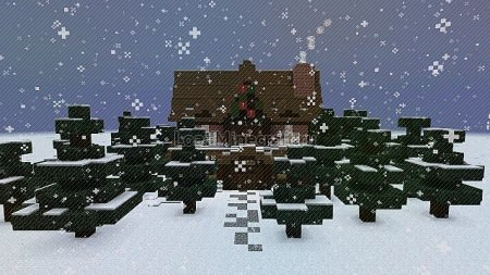 Скачать christmas adventure inspired villa для minecraft